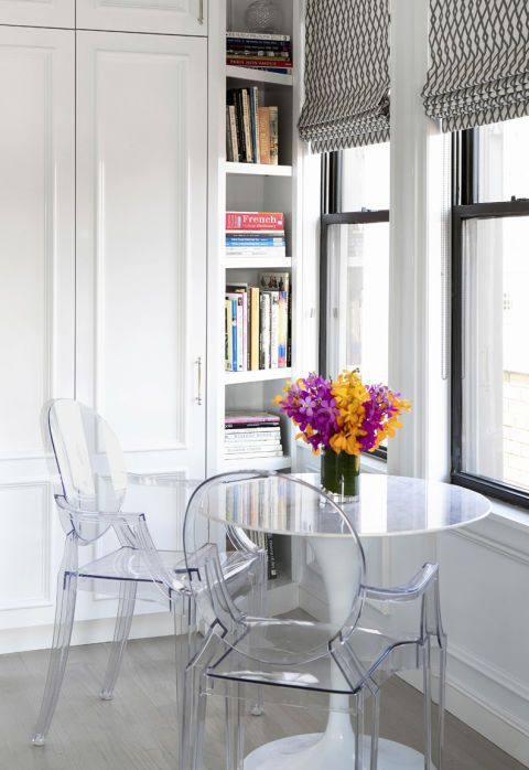 """They get the job done without adding visual clutter,"" says interior designer Elaine Griffin. Pictured here: Philippe Starck's Ghost chair for Kartell, $450; Design Within Reach"