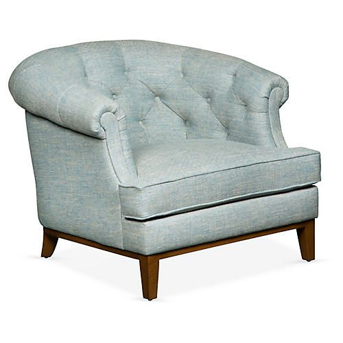 Best Wilshire Accent Chair Lake Linen With Images Blue 640 x 480