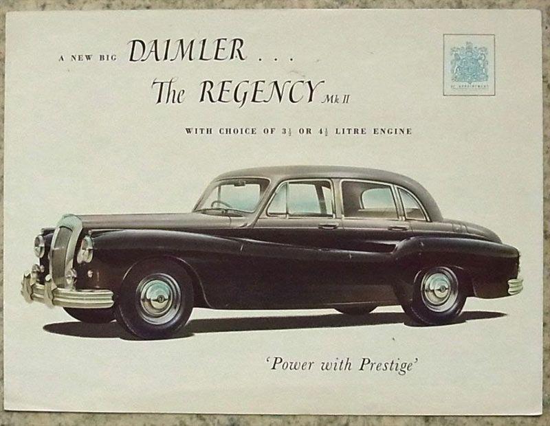 1953 Daimler Regency Mkii 1950s Vintage Cars Vintage Cars 1950s