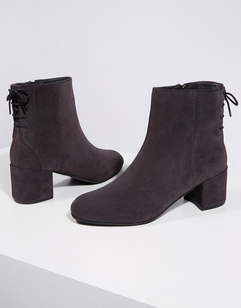 24f0ad70e7db Suede Tie Back Ankle Boots in 2018