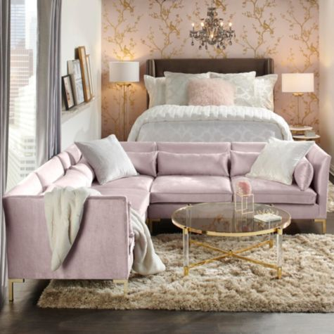 This Blush Zara Sectional From Z Gallerie Is Great But The Cerulean Classy
