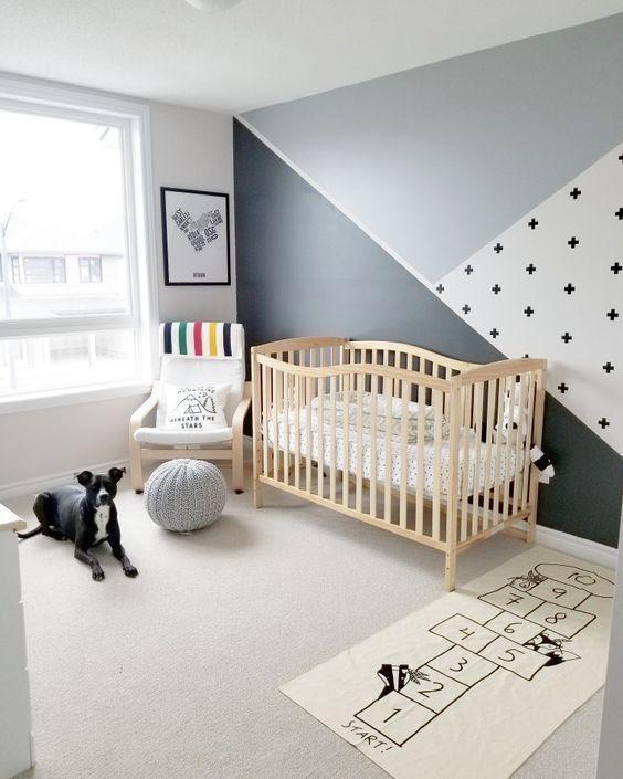 Graues und weißes Babyzimmer – 2019 – Nursery Diy