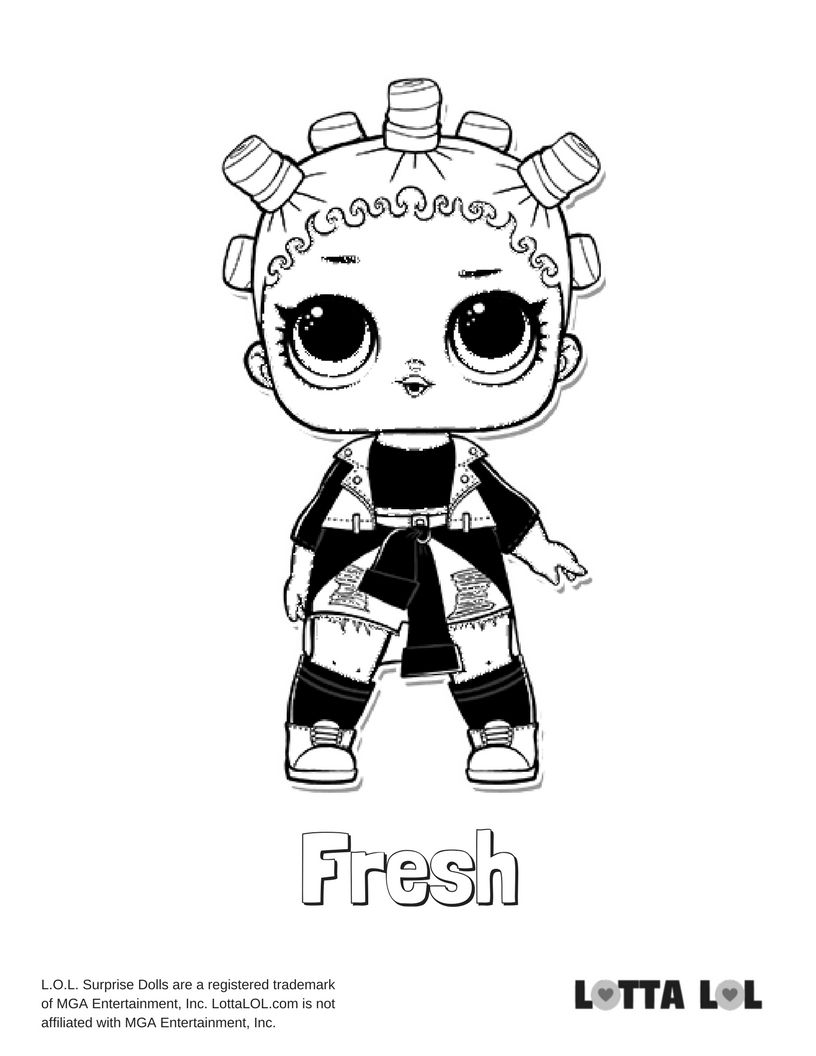 Fresh Coloring Page Lotta Lol Coloring Pages Lol Dolls Kids Printable Coloring Pages