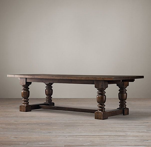 RHs French Farmhouse Rectangular Extension Dining TableAn Antique American Table From The Last Century Inspired Our Grandly Scaled Reproduction