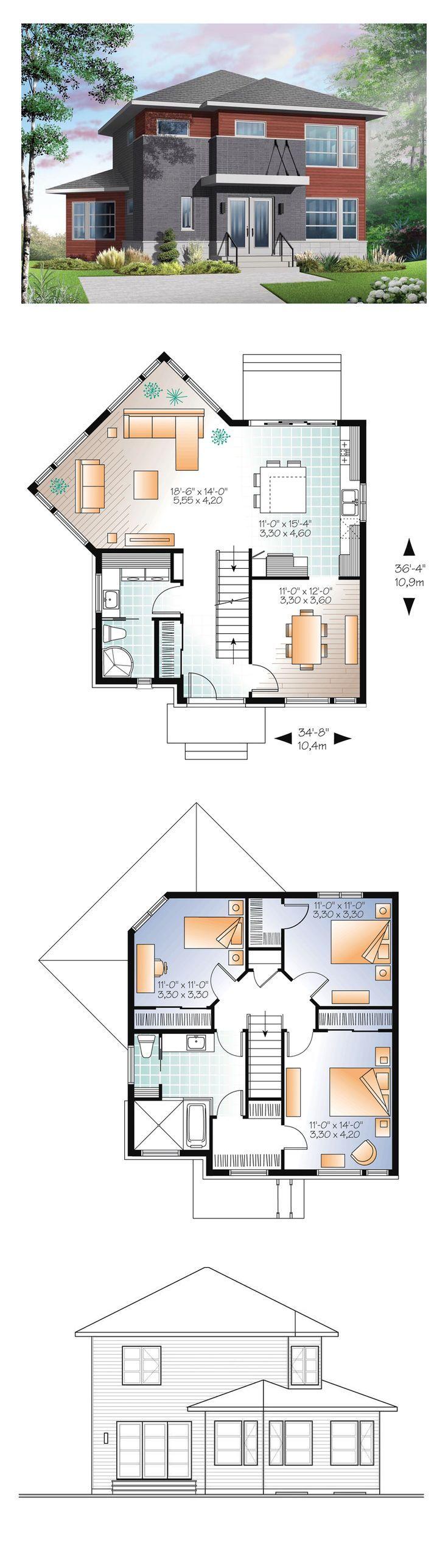 5 x 8 badezimmer design-ideen moderner hausplan   die architektur ideen  pinterest  modern