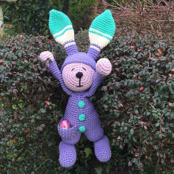 Conejo de Pascua Amigurumi - Patrón Gratis en Español aquí: https ...