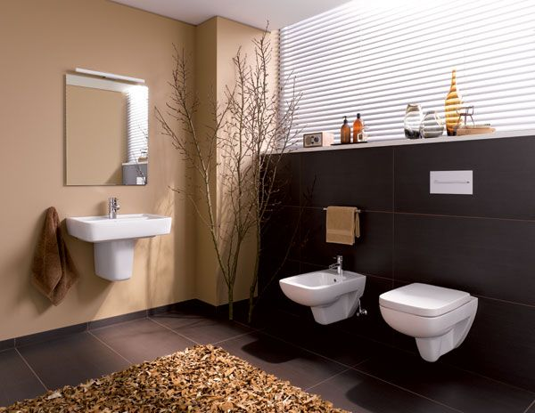 Ba os modernos de color marr n ideas para decorar for Disenar espacios interiores