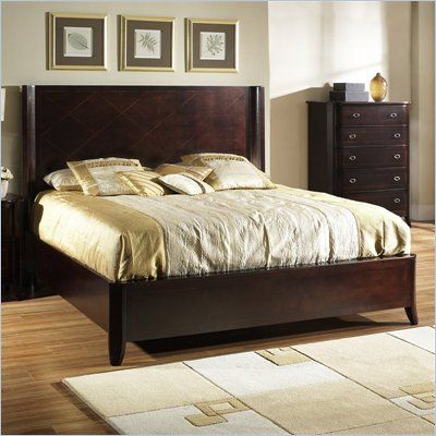 . simple but nice   for new master   Bedroom sets  Panel bed  Bed