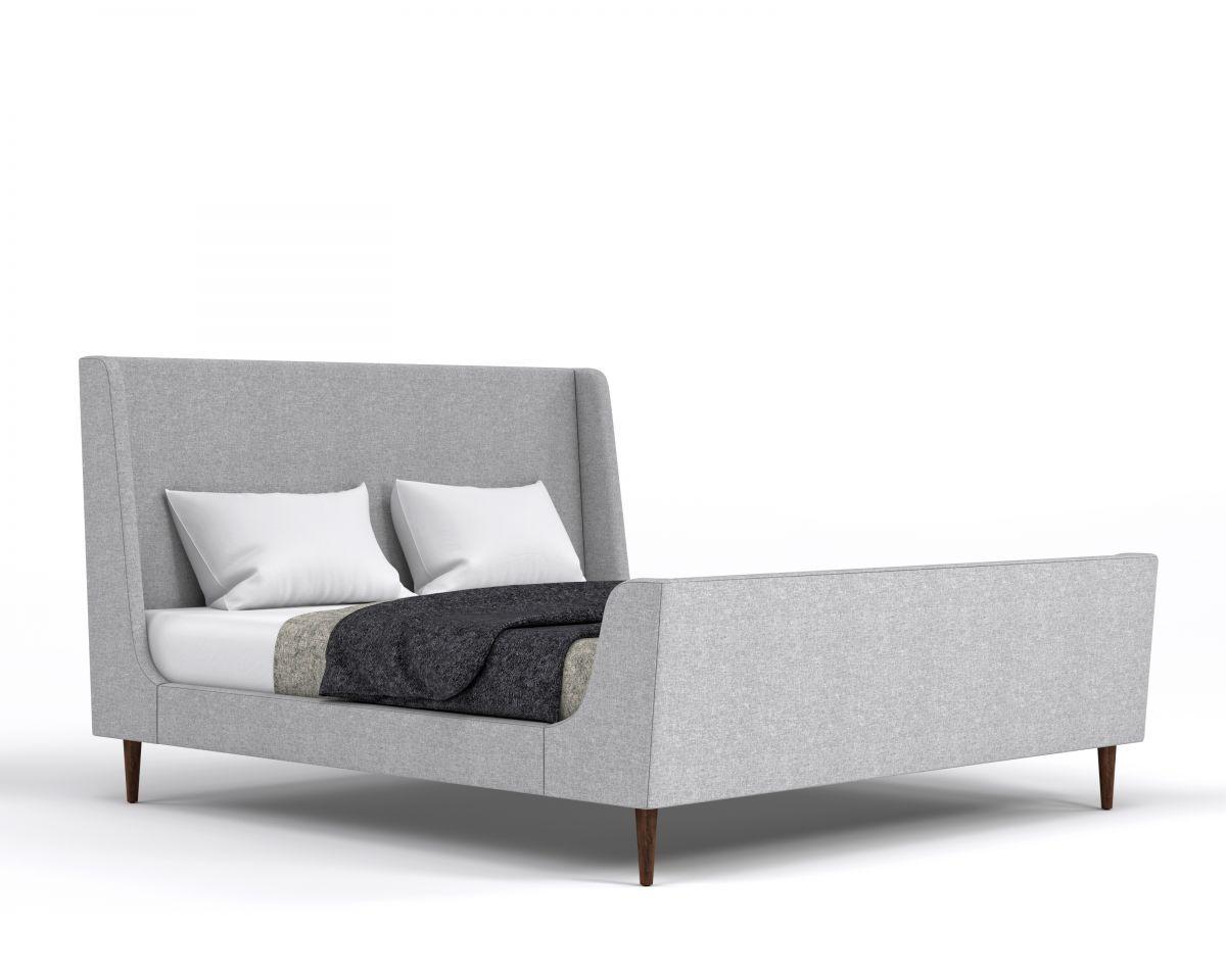 Swan Modern Platform Bed: Rove Concepts Sandro Mid-Century Furniture In