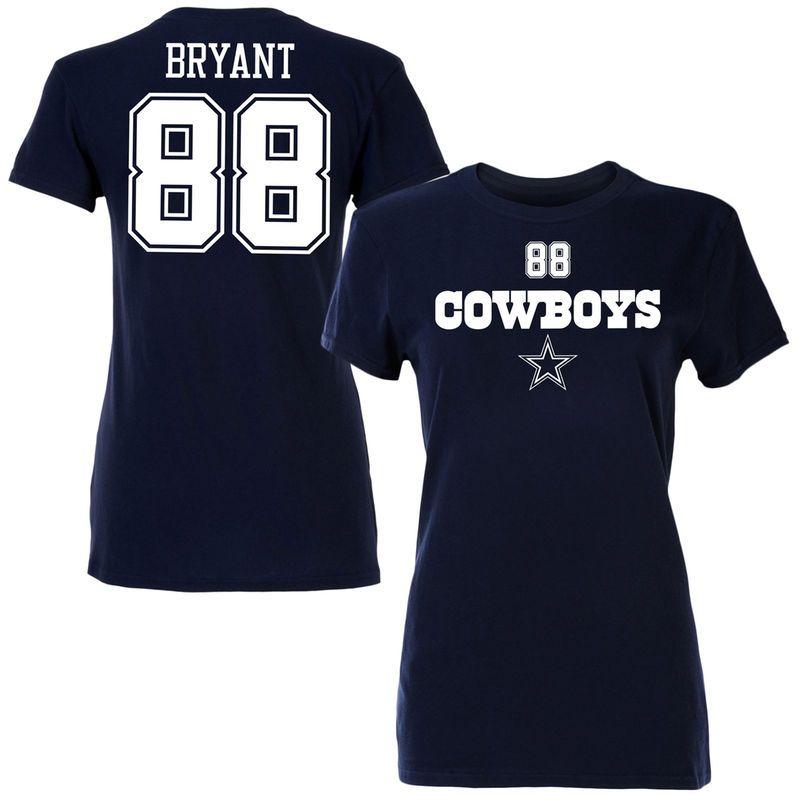Dez Bryant Dallas Cowboys Women's Name & Number T-Shirt - Navy Blue #dezbryant