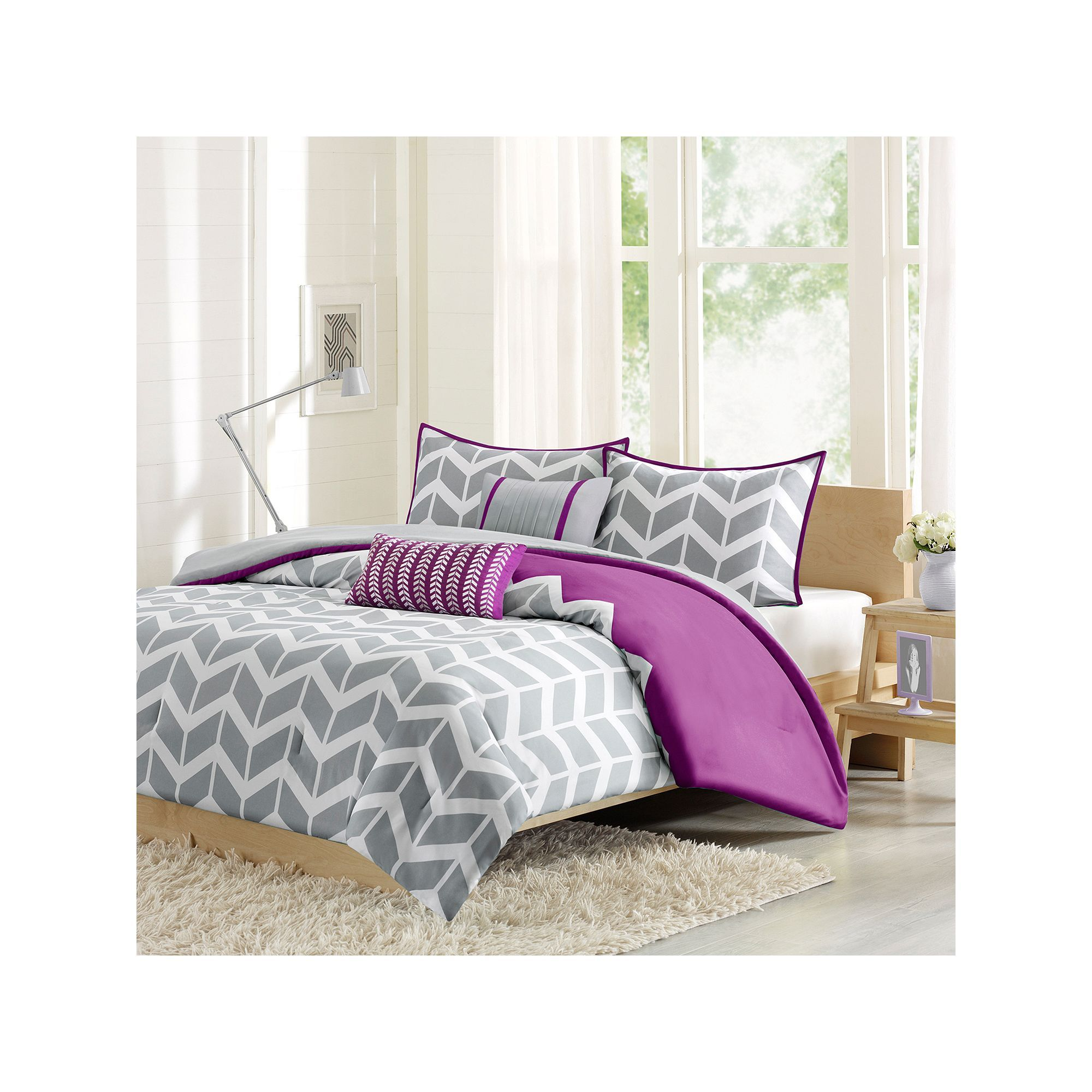 Intelligent Design Peyton Bed Set, Purple