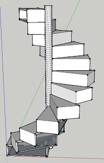 Best Little House Folding Spiral Staircase Bookshelf Bureau 640 x 480