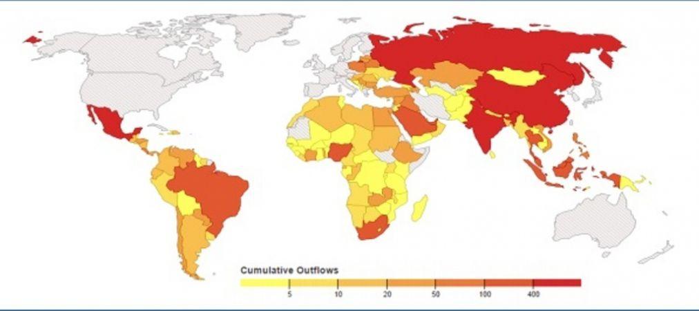 Cumulative heat map of illicit financial flows from developing cumulative heat map of illicit financial flows from developing countries gumiabroncs Images