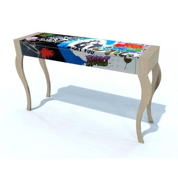 meuble bureau design Tartarin Meubles dArt graffiti streetart