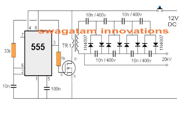 stun gun circuit electronics circuit in 2019 circuit, high  stun gun circuit