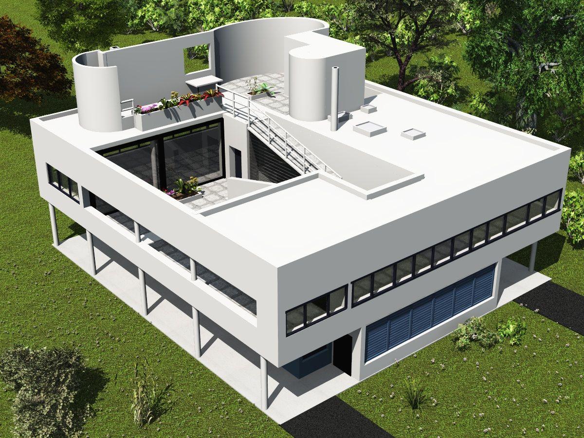 Resultado de imagem para villa savoye | Arq | Pinterest | Architecture