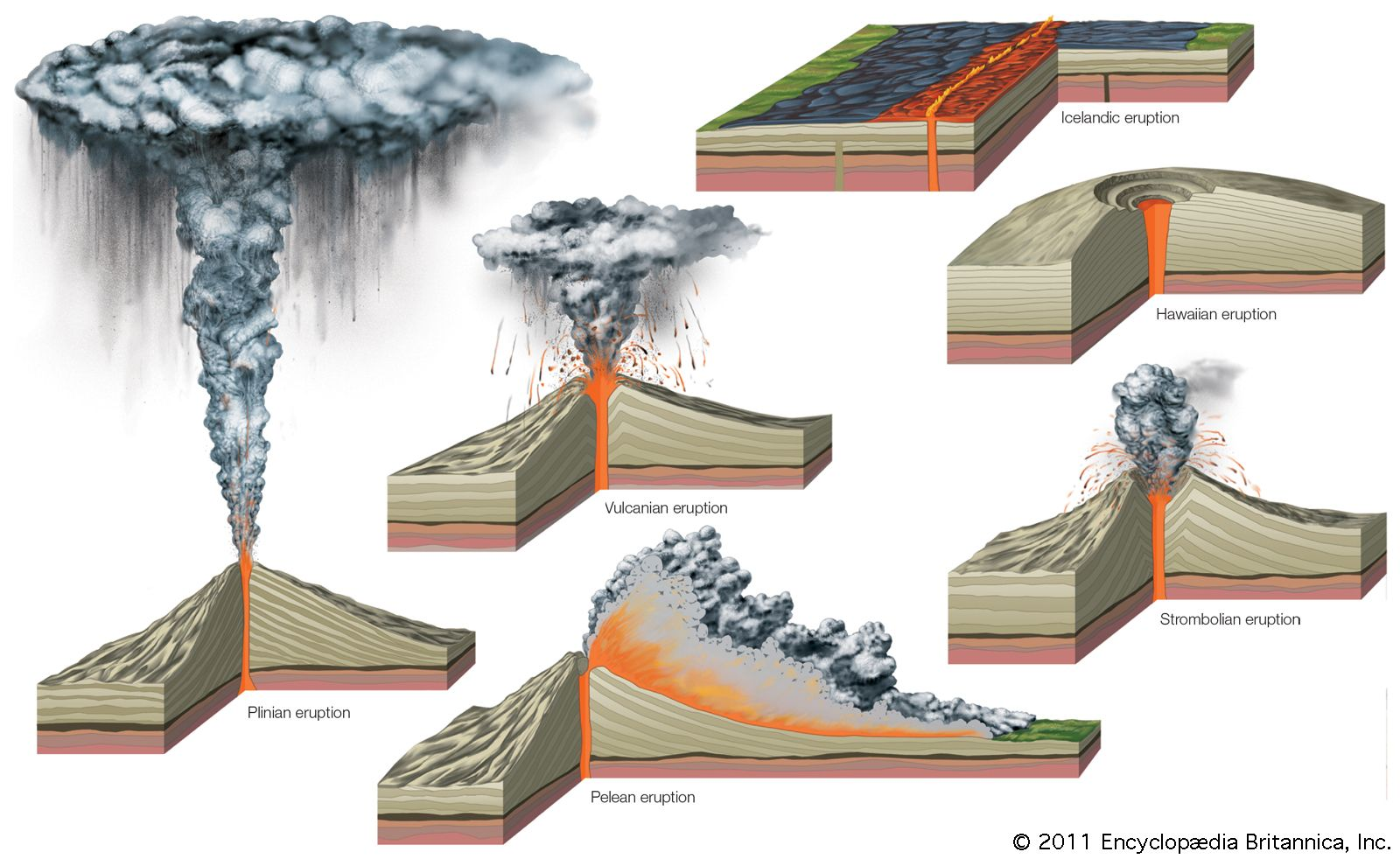 Plinian Eruption Diagram