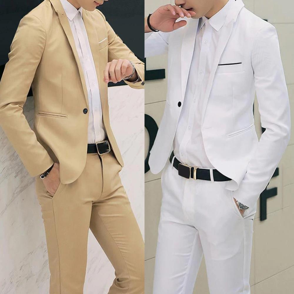 New Men/'s Formal Tuxedo Vest Waistcoat only solid beige wedding prom