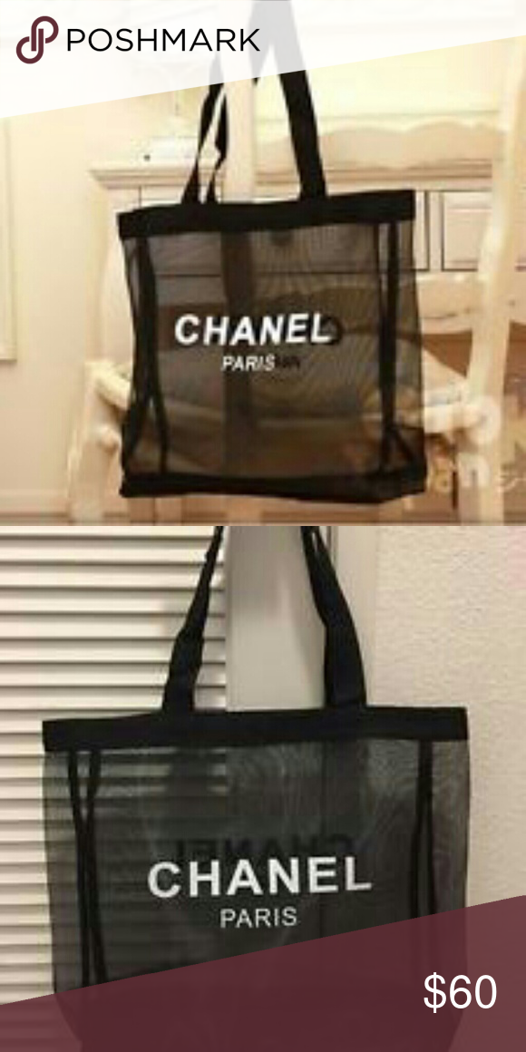 e4949ef2ba05 Chanel vip mesh bag New New authentic Chanel Paris tote VIP gift. The  material is mesh. Measurements are approximately 17.5