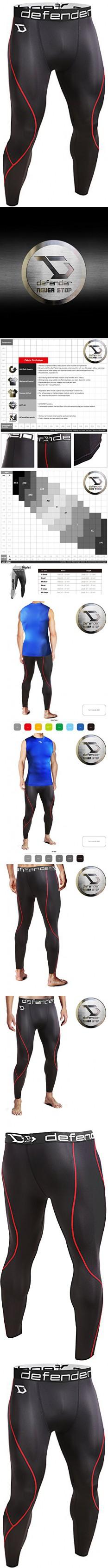 Defender Men's Compression Tights Pants Underlayer Skin Sports Running BR_M