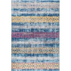 Reduced design carpets -  benuta Trends carpet Tara multicolor / blue 300×400 cm – vintage carpet in Used-Lookbenuta.de  - #antiquedecor #apartmentdecor #bedroomdecor #carpets #design #homedecor #reduced