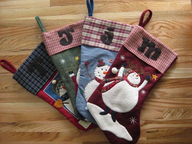 My Handmade Home: Tutorial: Easy Christmas Stocking