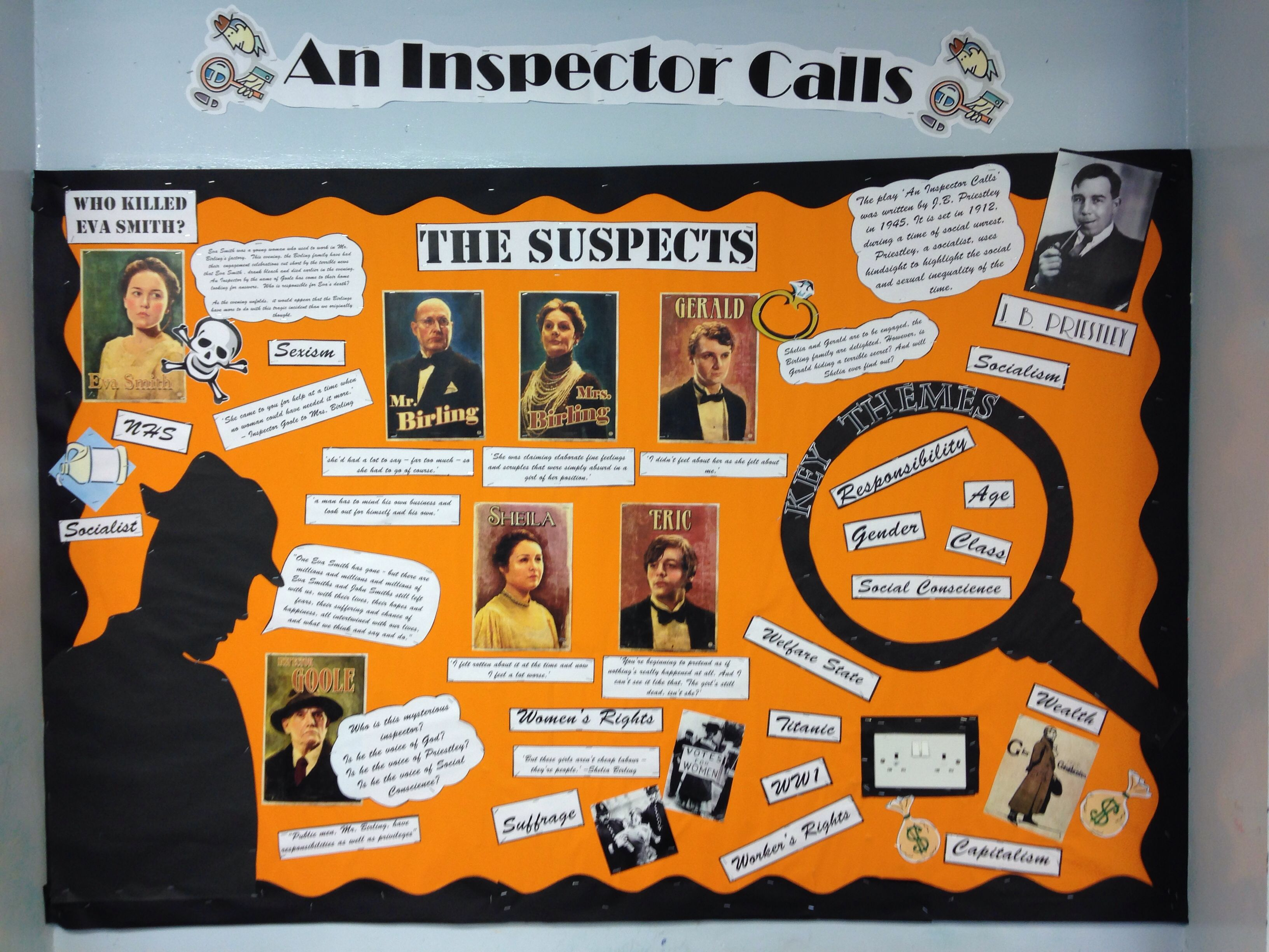 17 best ideas about an inspector calls revision an bulletin board classroom display high school english reading an inspector calls