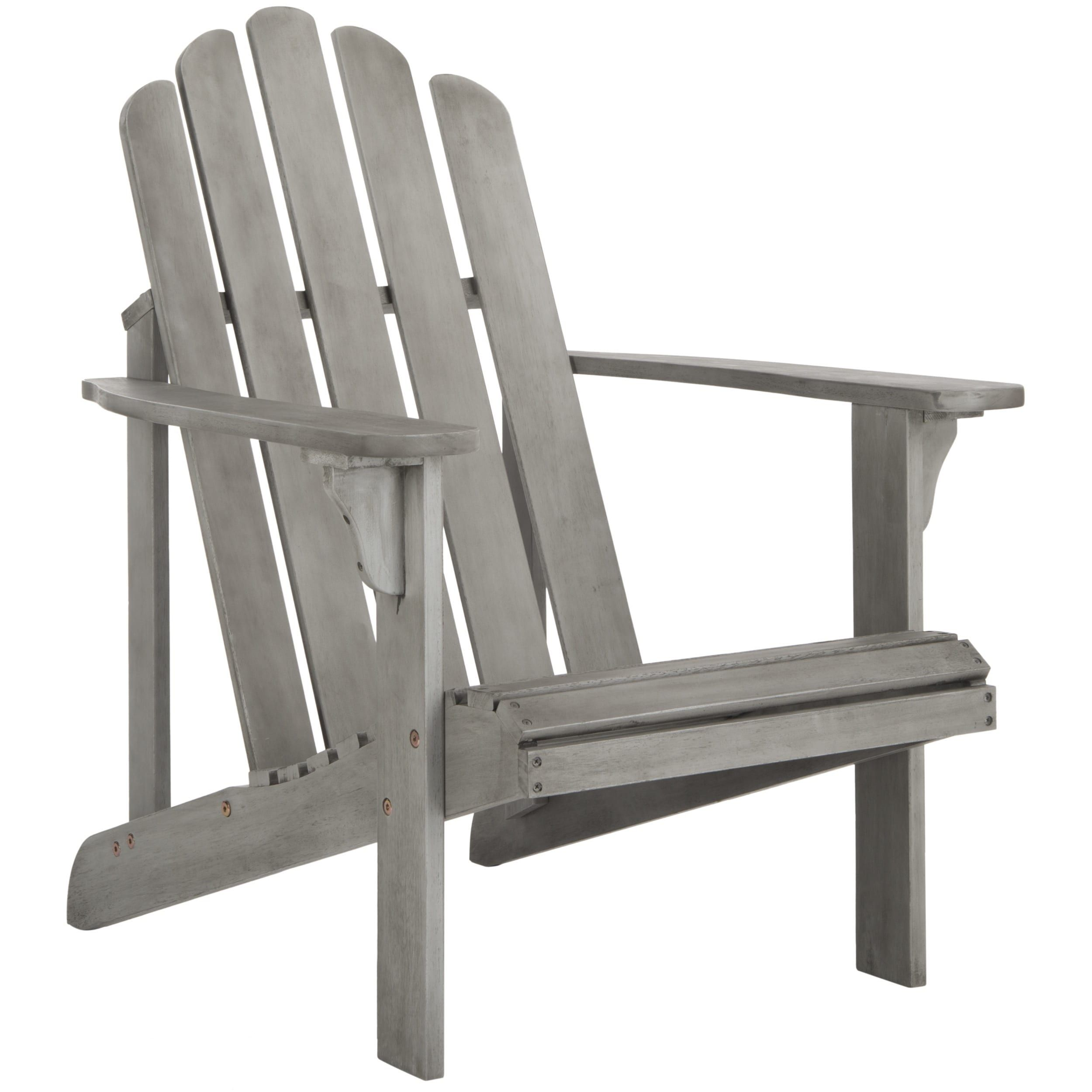 Safavieh Topher Grey Wash Adirondack Chair (PAT7027B), Patio Furniture  (Rattan)