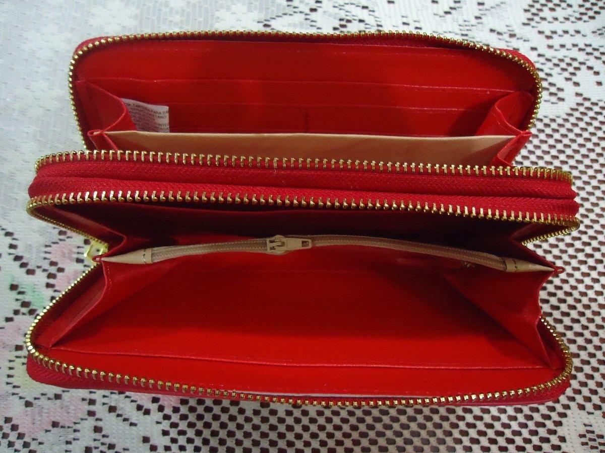 c022a0873 cartera billetera roja con mariposa doble cierre nueva | Wallet She ...