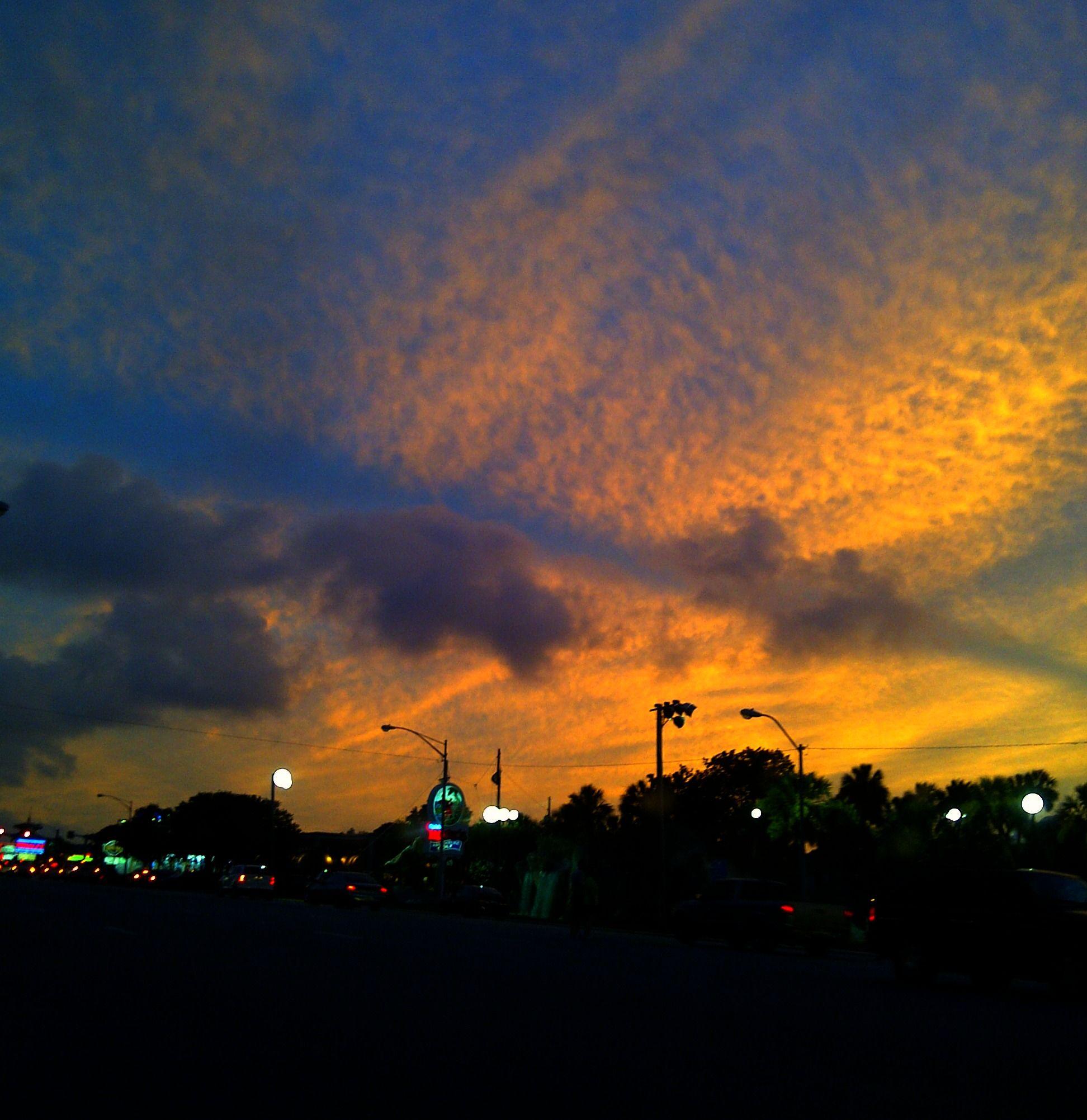 Monday Night Sunset Beach Landscape Landscape Sunset