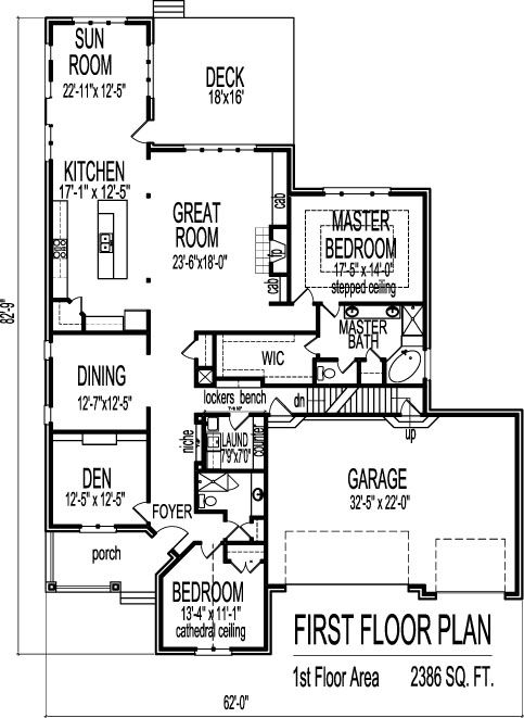 2 Bedroom House Plans With Open Floor Plan Bungalow With Attic Home Design House Plans 2 Bedroom House Plans Bedroom House Plans