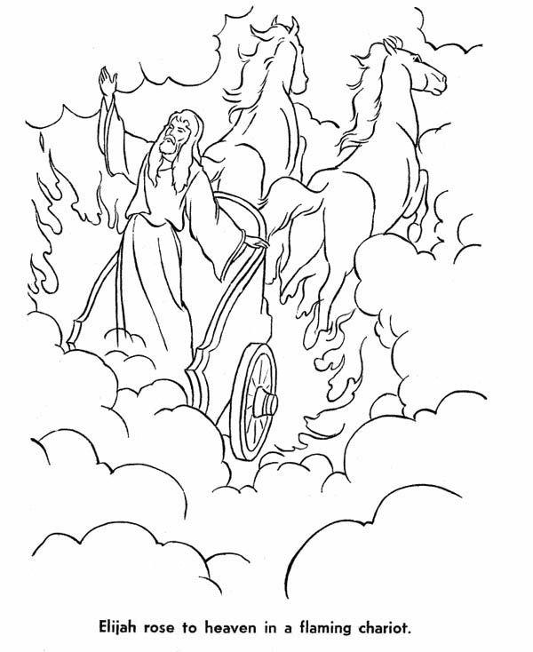 39+ God takes elijah to heaven coloring page HD