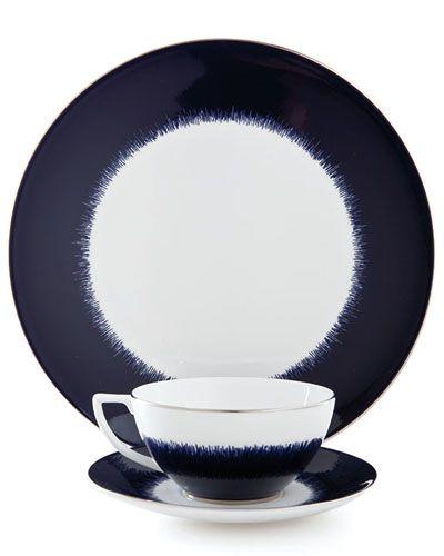 """""""Navy fringe"""" dinnerware.   Navy blue decor, Wedgwood ..."""