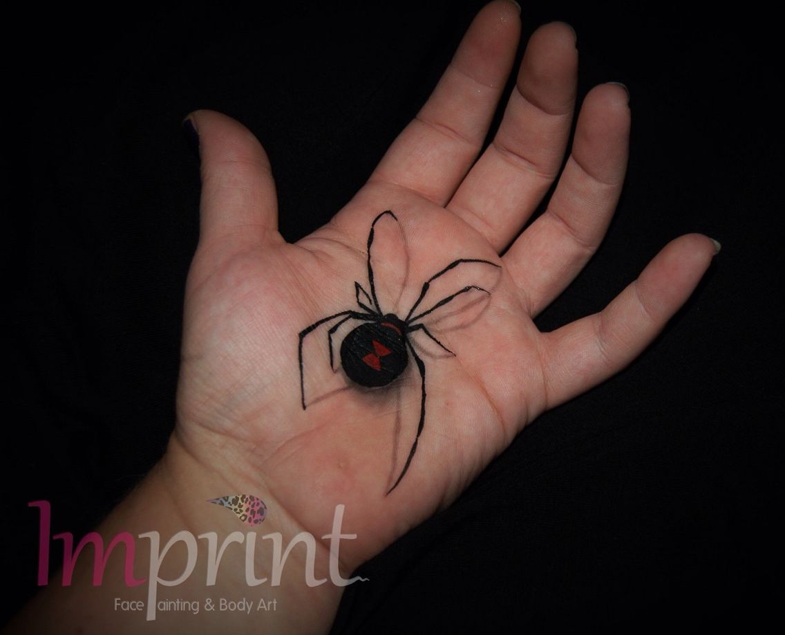 Black Widow Spider Face Paint Hand Painting Spider Face