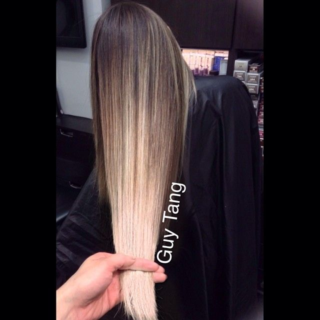 Blended dimensional balayage ombre