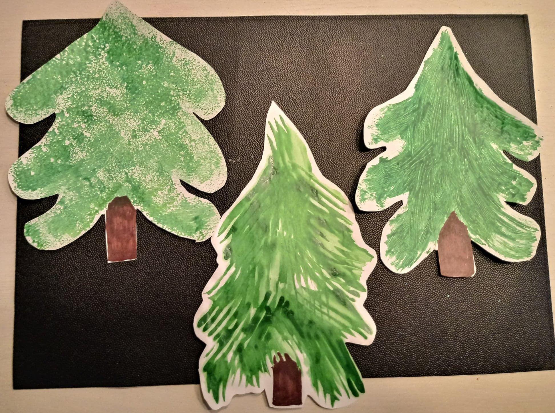 Kerstboom Verven Met Vork Kerst Kerstboom Verven Met Vork 1062 Kerstboom Kerst Kerstmis
