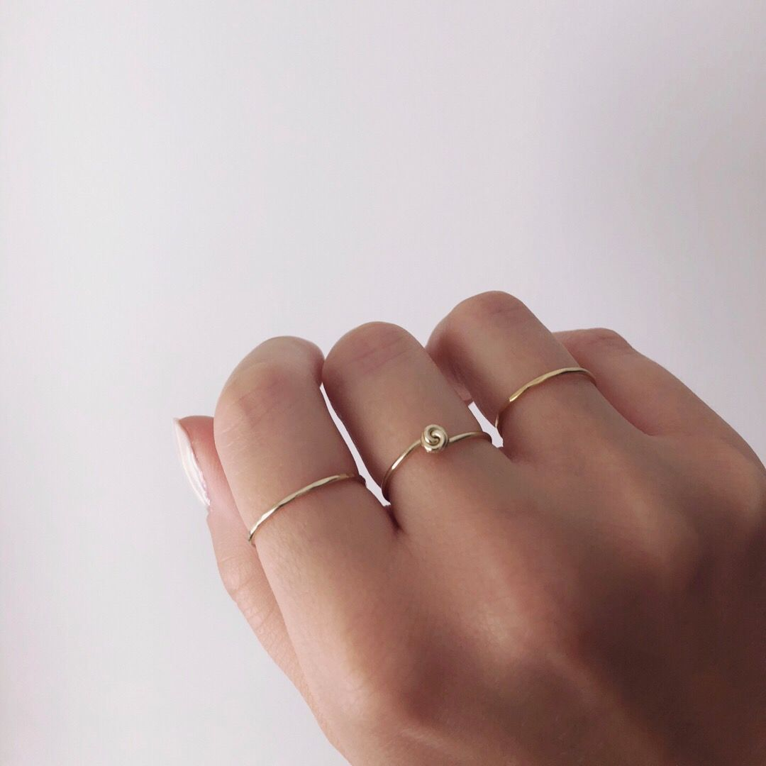 Minimalist Gold Rings For Stacking Gold Ring Designs Silver