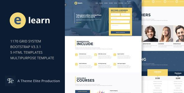 training website templates free download
