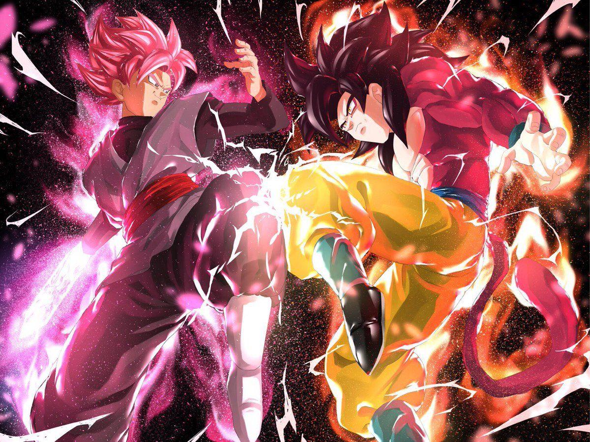 Goku Black Vs Goku 4 Anime Dragon Ball Super Dragon Ball Goku Dragon Ball