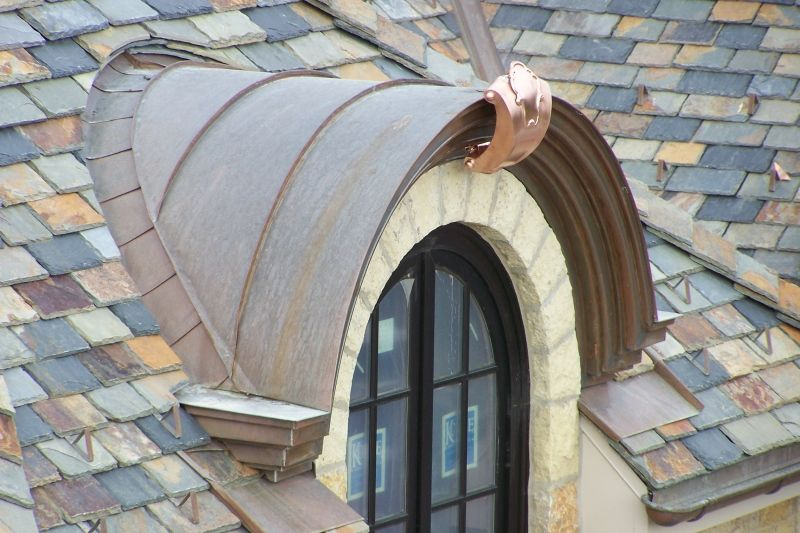 Radius Seamed Valley To A Copper Barrel Roof Dormer With