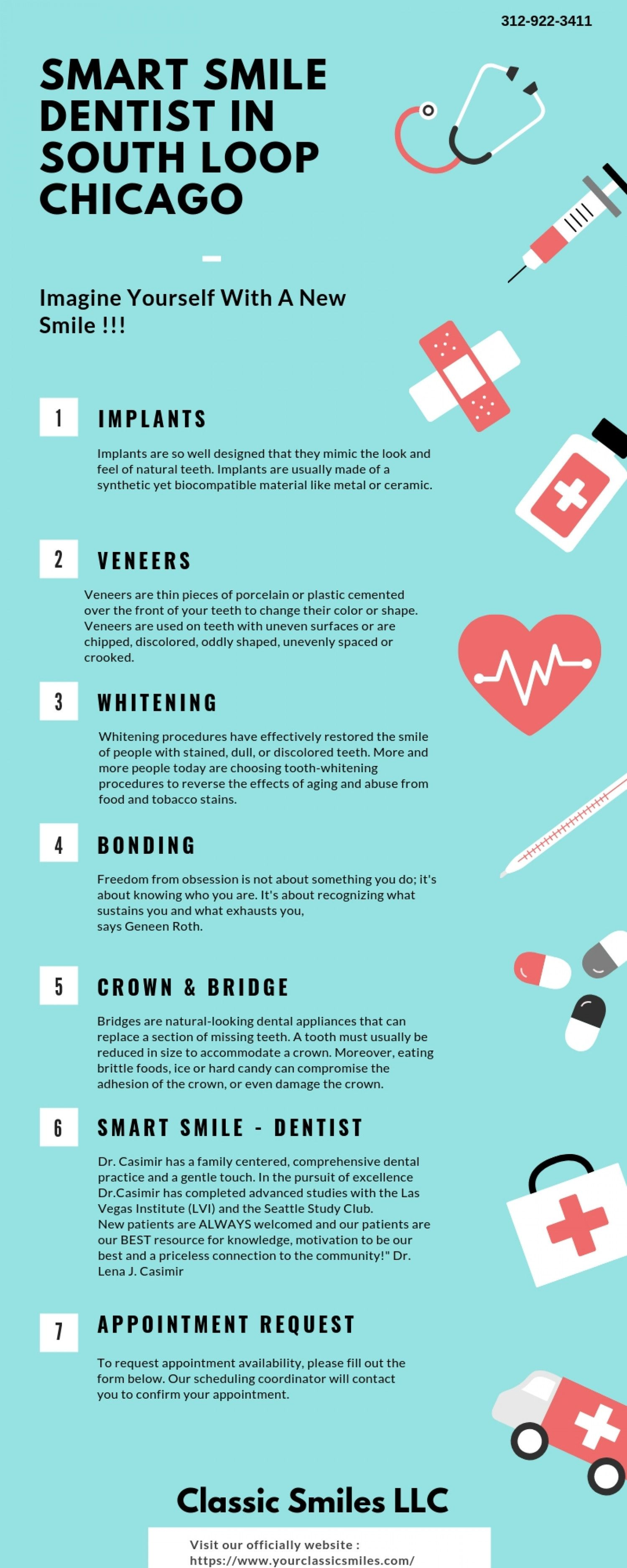 Smart Smile Dentist in South Loop Chicago Infographic