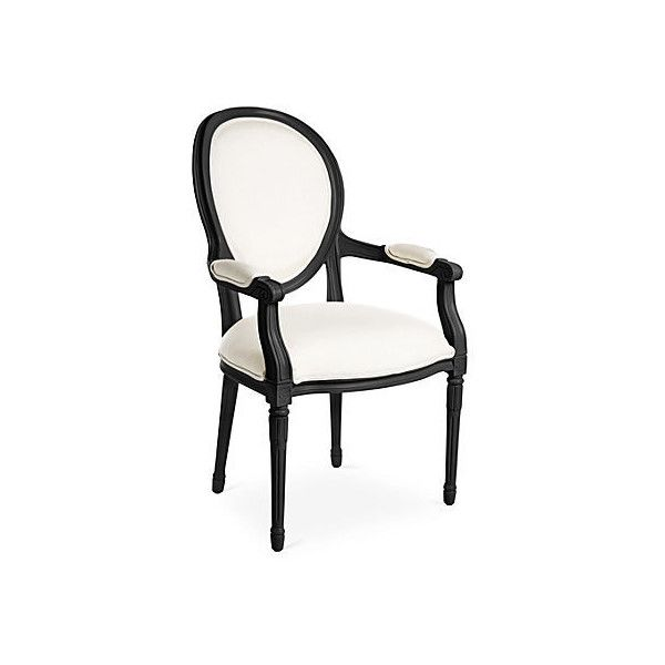 Melrose Outdoor Armchair Black/White Outdoor Dining Chairs (£440 ...