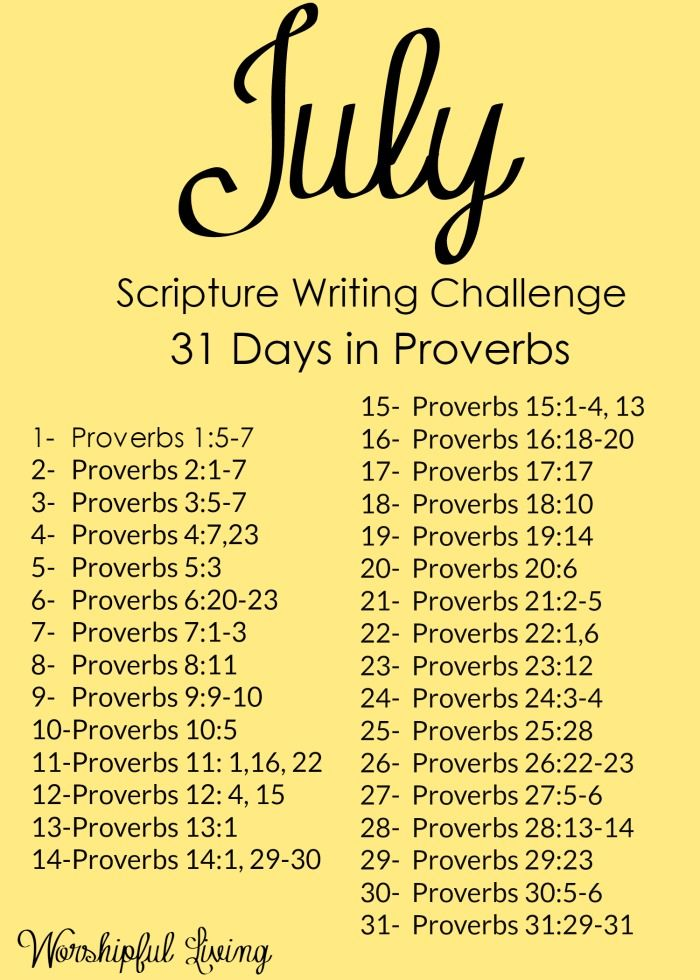 June Calendar Writing Prompts : Scripture writing challenge for july days in proverbs