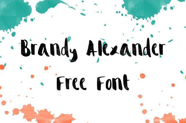 DLOLLEYS HELP: Brandy Alexander Free Font