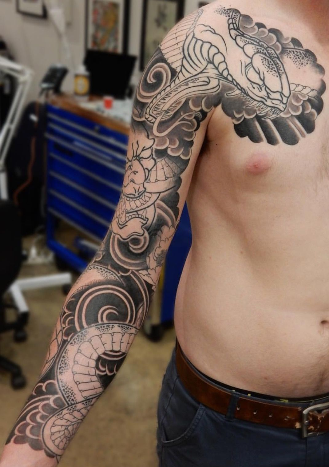 Pin By C Pulsifer On Tattoo Japanese Sleeve Tattoos Japanese Tattoo Tattoo Sleeve Designs