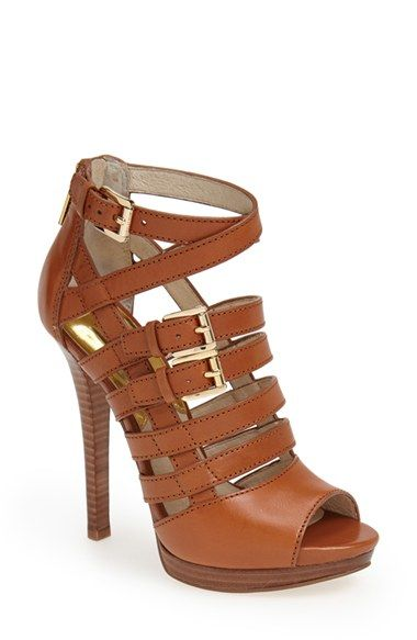Michael Kors caged sandals in love. | Heels, Me too shoes