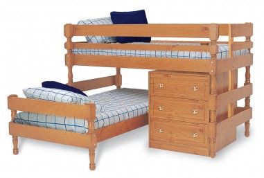 Bunkers Classic Lo Line Corner Bunk Bed With Classic Lo Line Chest