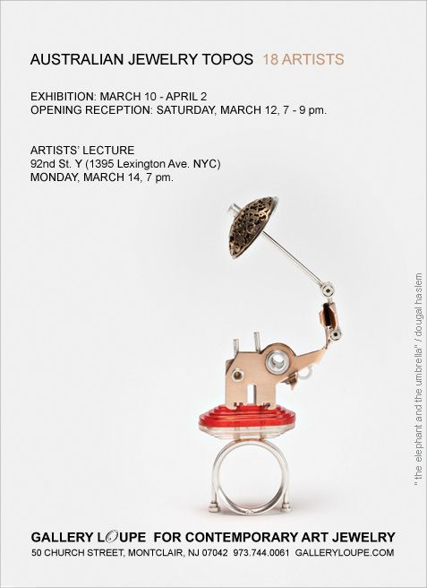 """Australian Jewelry Topos"" Exhibition at Gallery Loupe –"