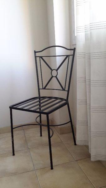 juego de comedor con seis sillas, caño y hierro artesanales ...