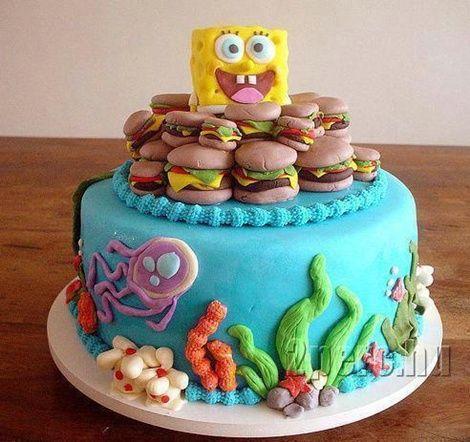 spongyabob torta képek Spongyabob torta.   Különleges torták   Pinterest   Sponge bob  spongyabob torta képek